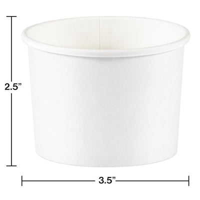 Treat Cups, White (8/Pkg)