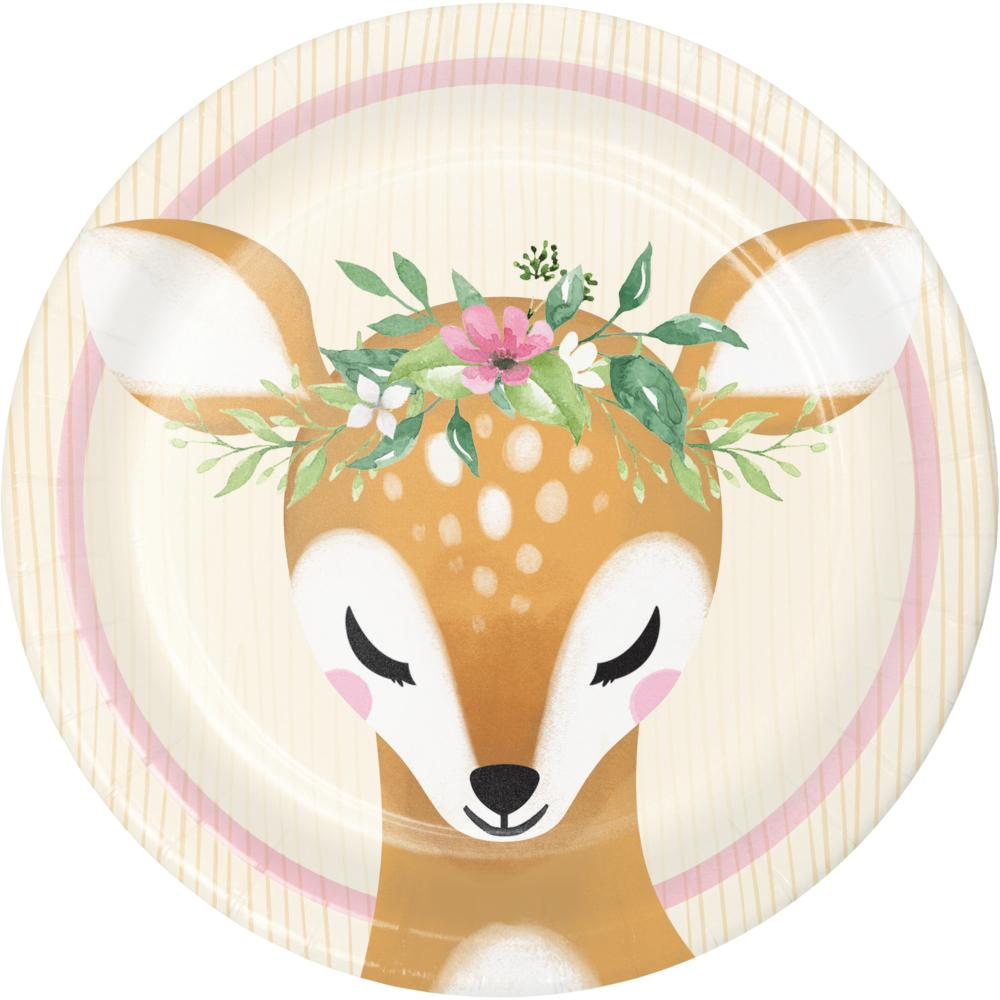 Deer Little One Luncheon Plate (8/Pkg) by Creative Converting