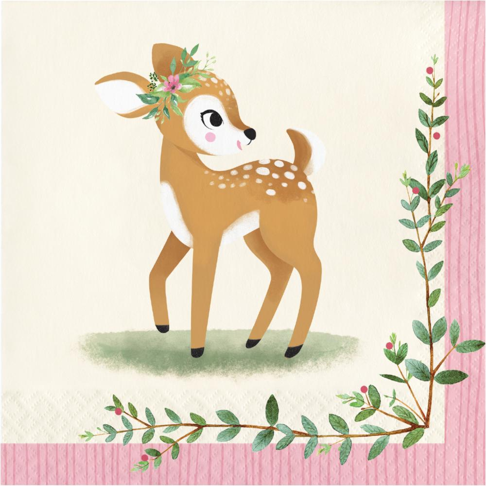 Deer Little One Luncheon Napkin (16/Pkg) by Creative Converting