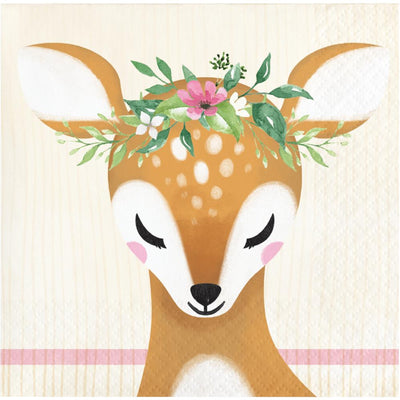 Deer Little One Beverage Napkin (16/Pkg) by Creative Converting
