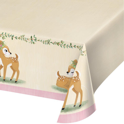 "Deer Little One Paper Tablecover All Over Print, 54"" X 102"" (1/Pkg) by Creative Converting"