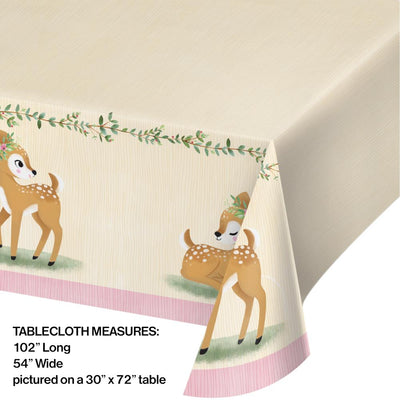 "Deer Little One Paper Tablecover All Over Print, 54"" X 102"" (1/Pkg)"