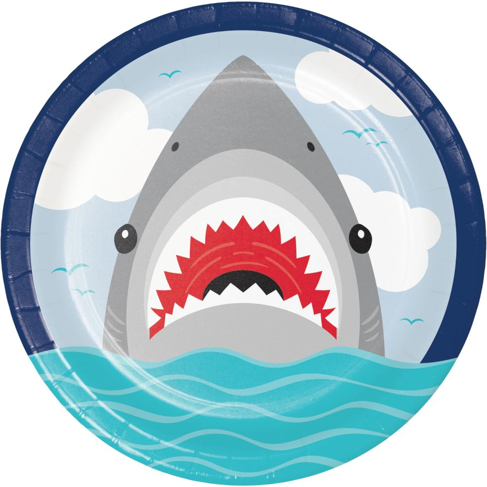 Shark Party Dinner Plate (8/Pkg) by Creative Converting