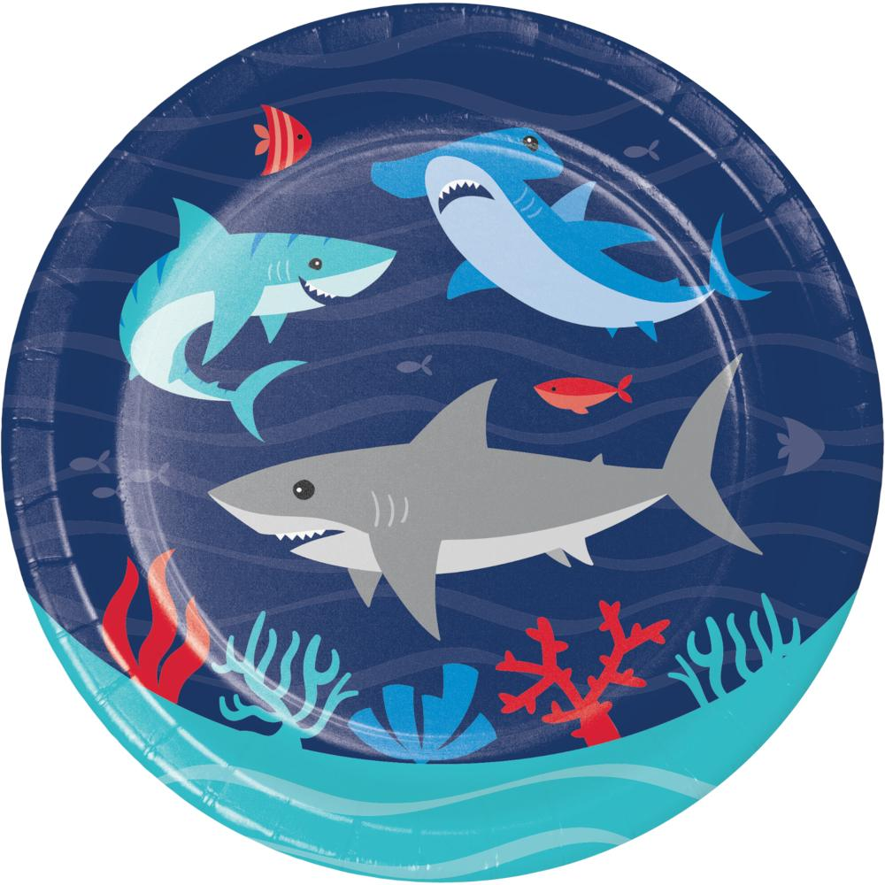 Shark Party Luncheon Plate (8/Pkg) by Creative Converting