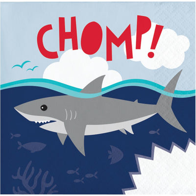 Shark Party Beverage Napkin (16/Pkg) by Creative Converting