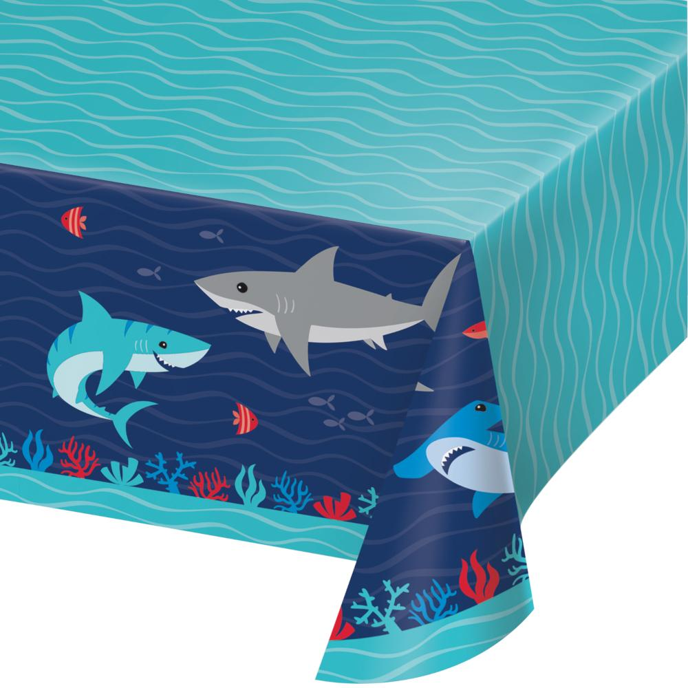 "Shark Party Paper Tablecover All Over Print, 54"" X 102"" (1/Pkg) by Creative Converting"