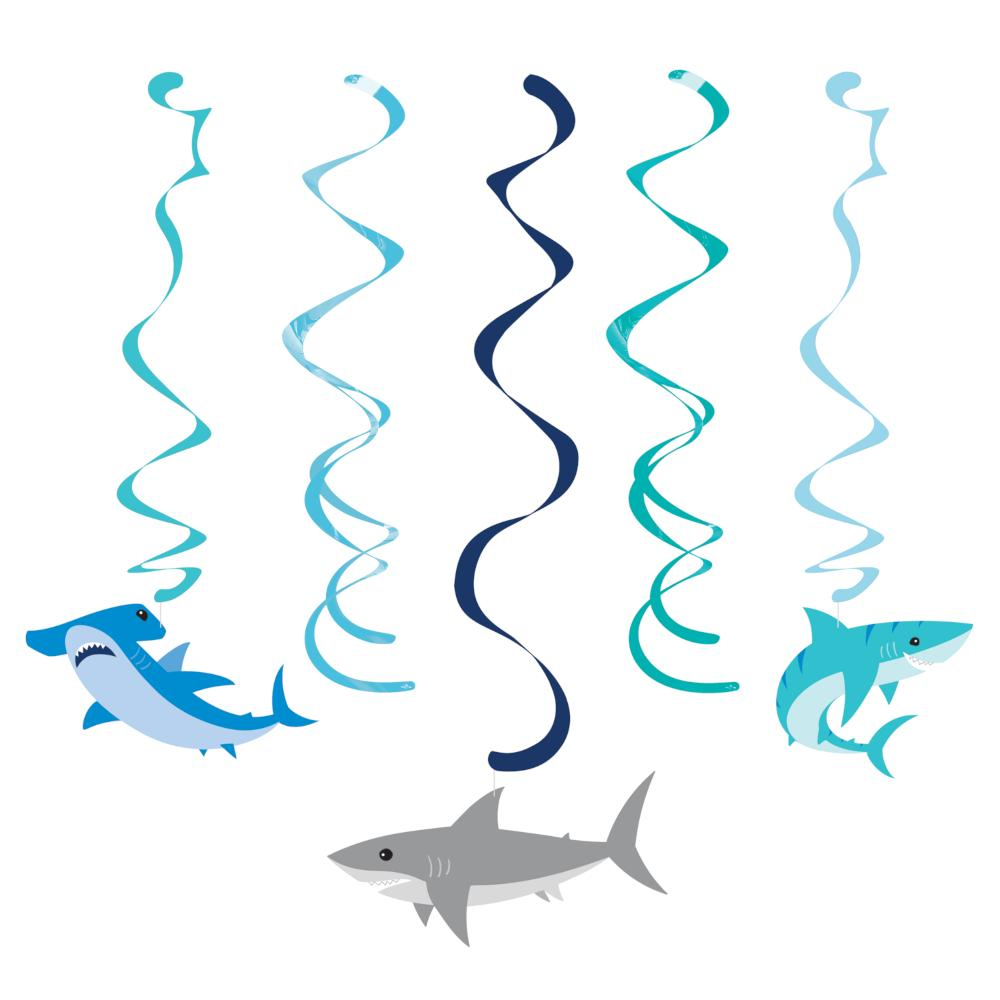 Shark Party Dizzy Danglers Assorted (5/Pkg) by Creative Converting