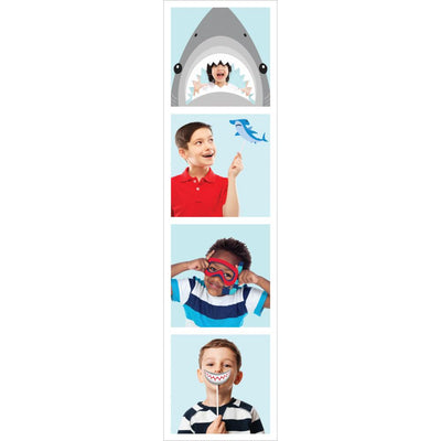 Shark Party Photo Booth Props (10/Pkg)