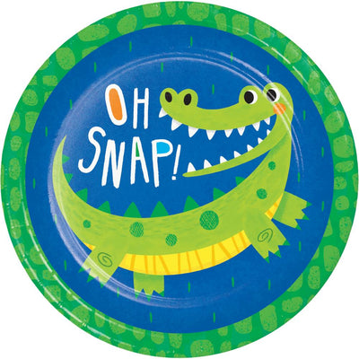 Alligator Party Dinner Plate (8/Pkg) by Creative Converting