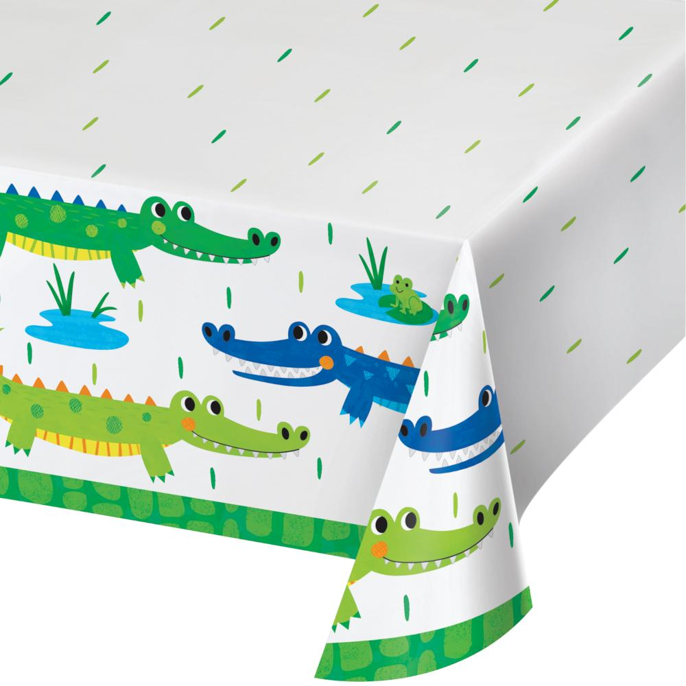 "Alligator Party Paper Tablecover All Over Print, 54"" X 102"" (1/Pkg) by Creative Converting"