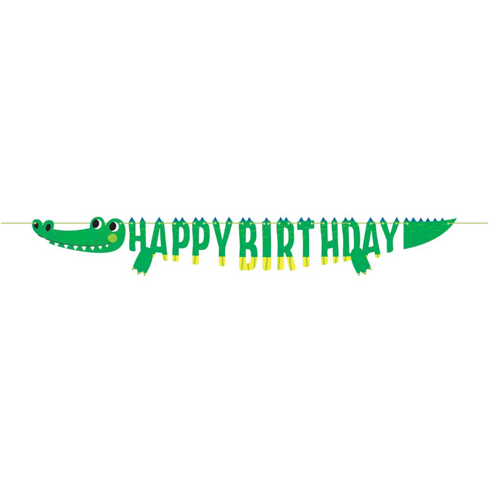 Alligator Party Shaped Banner With Ribbon (1/Pkg) by Creative Converting