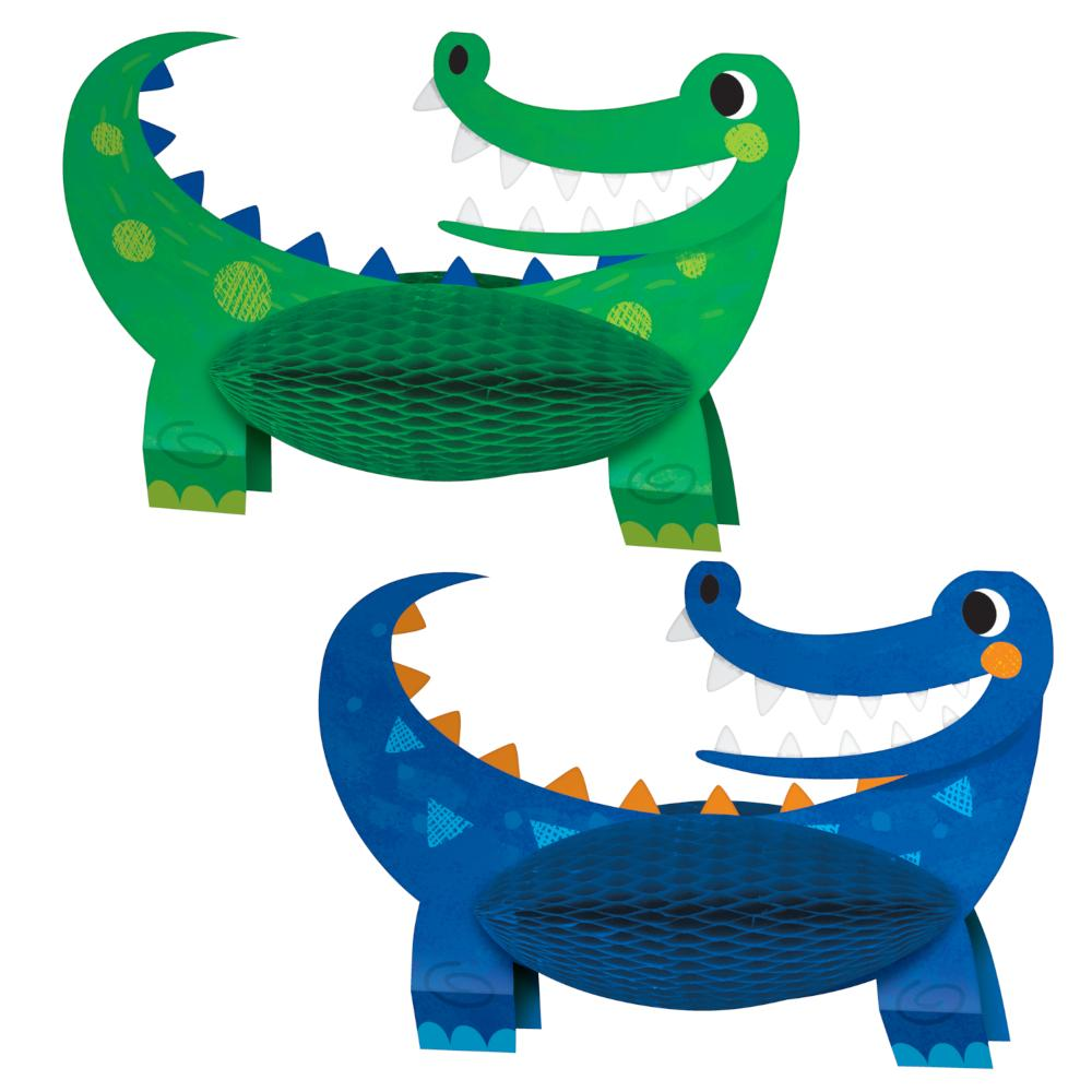 Alligator Party Centerpiece Hc Shaped (2/Pkg) by Creative Converting