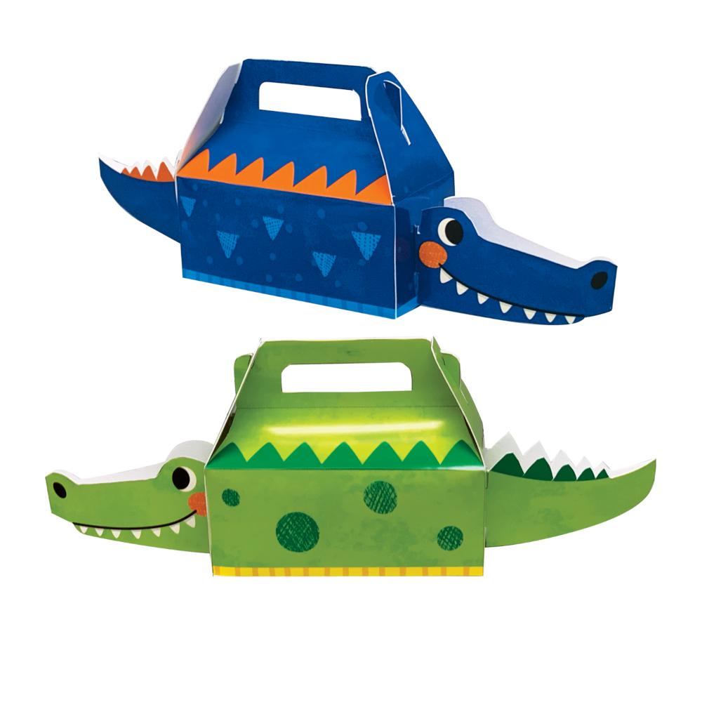 Alligator Party Treat Box 3D (4/Pkg) by Creative Converting