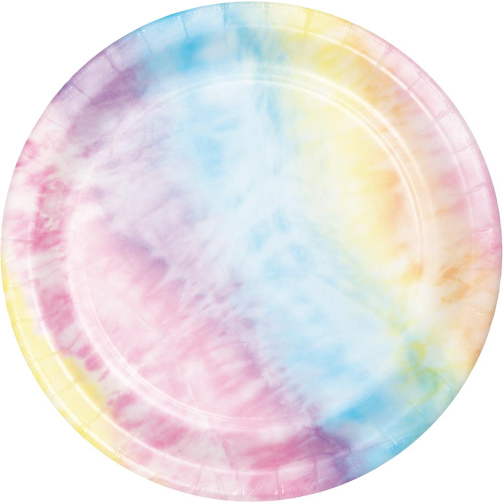 Tie Dye Party Luncheon Plate (8/Pkg) by Creative Converting
