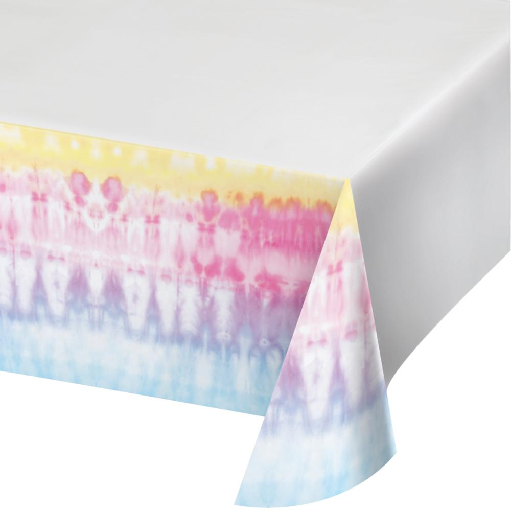 "Tie Dye Party Paper Tablecover Border Print, 54"" X 102"" (1/Pkg) by Creative Converting"