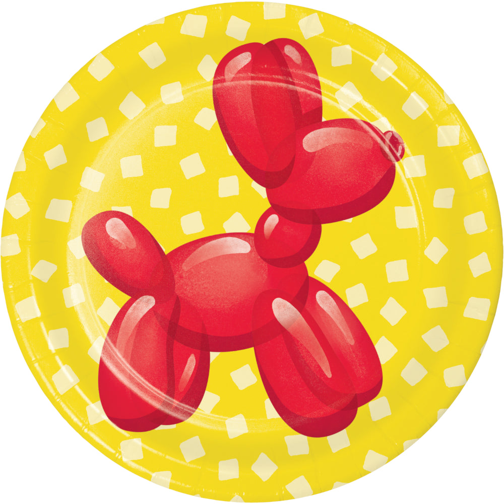 Party Balloon Animals Luncheon Plate, Assorted (8/Pkg) by Creative Converting