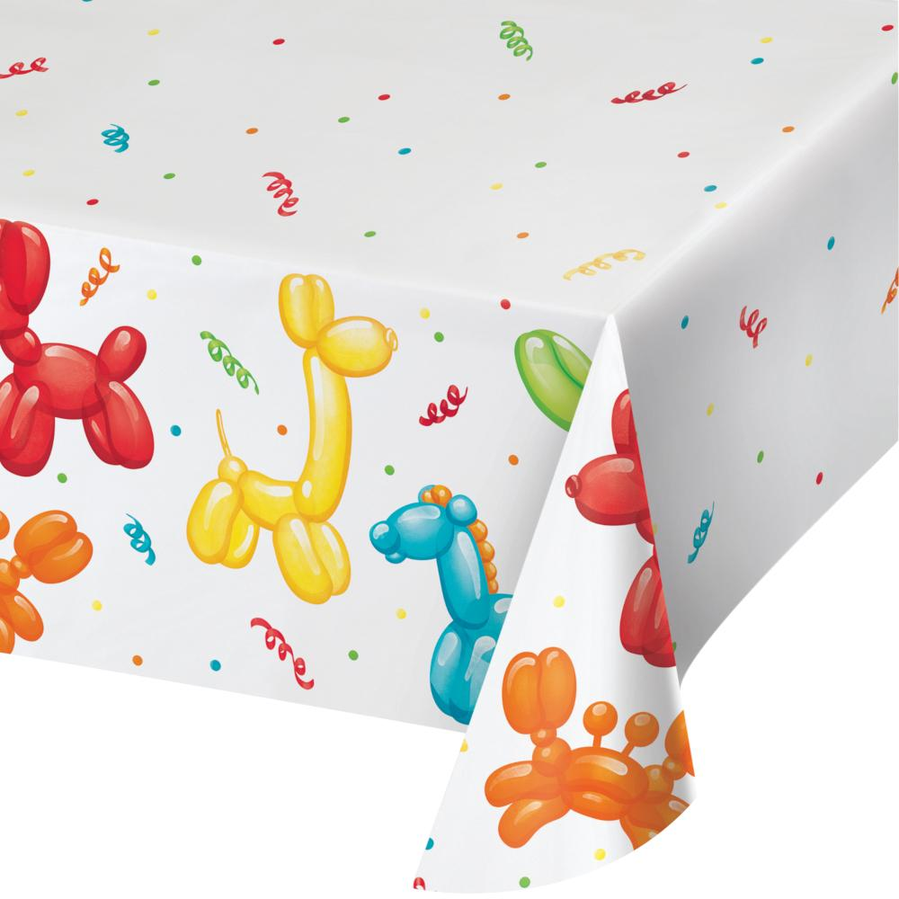 "Party Balloon Animals Paper Tablecover All Over Print, 54"" X 102"" (1/Pkg) by Creative Converting"