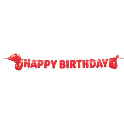 Party Balloon Animals Shaped Banner With Ribbon (1/Pkg) by Creative Converting
