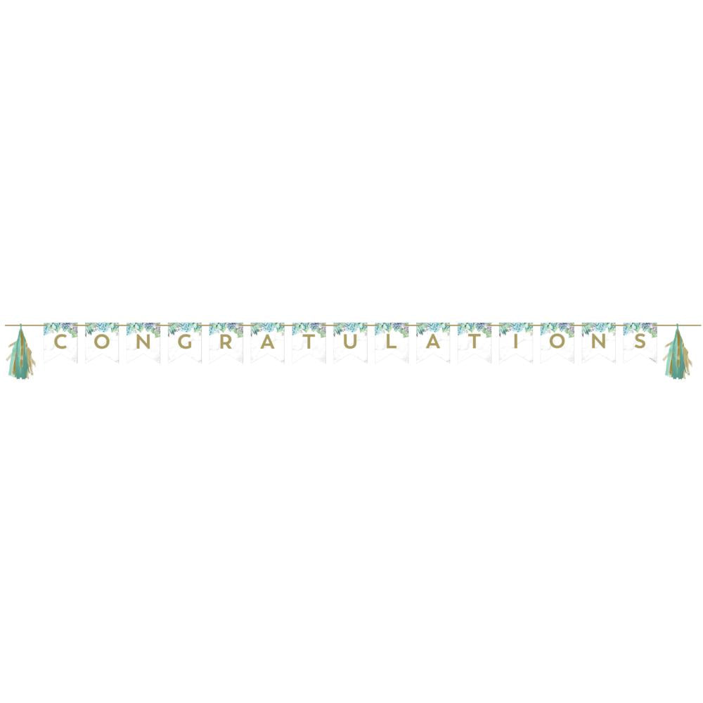 Geometric Succulents Banner With Tassle Garland (1/Pkg) by Creative Converting
