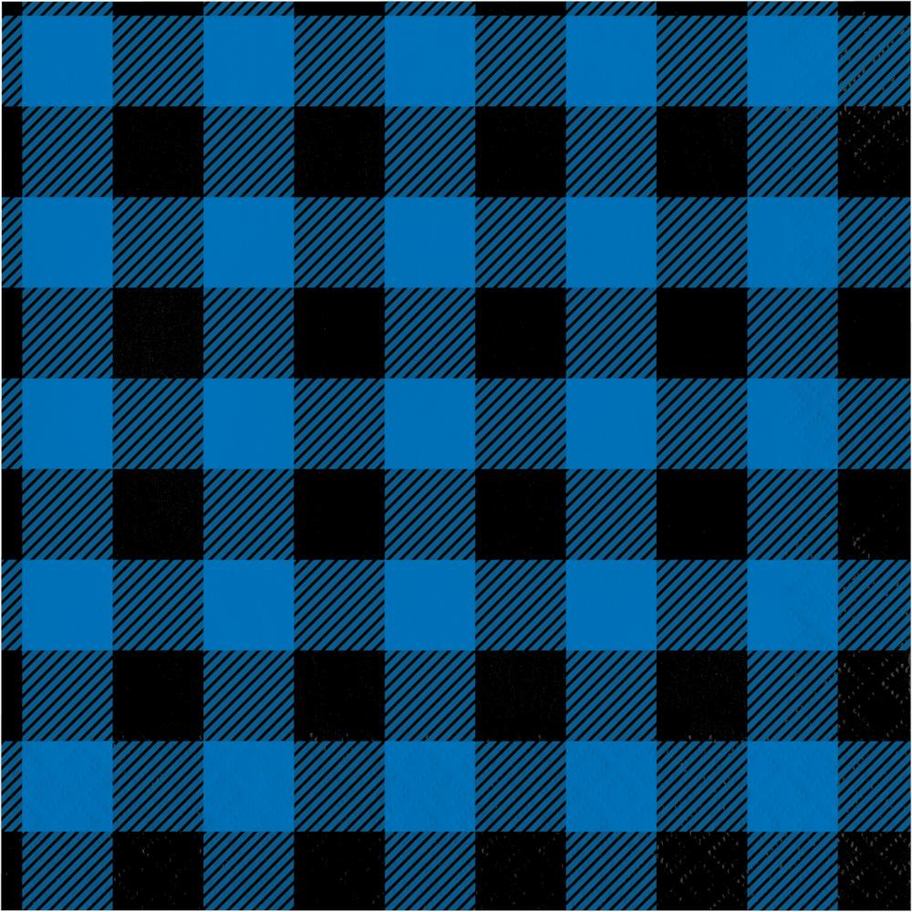 Blue Black Buffalo Plaid Luncheon Napkin (16/Pkg) by Creative Converting