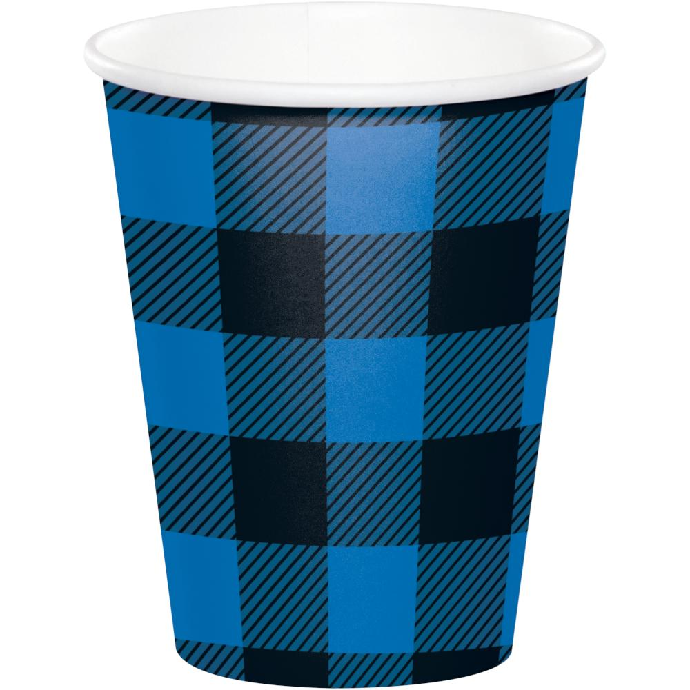 Blue Black Buffalo Plaid Hot/Cold Cup 9Oz. (8/Pkg) by Creative Converting
