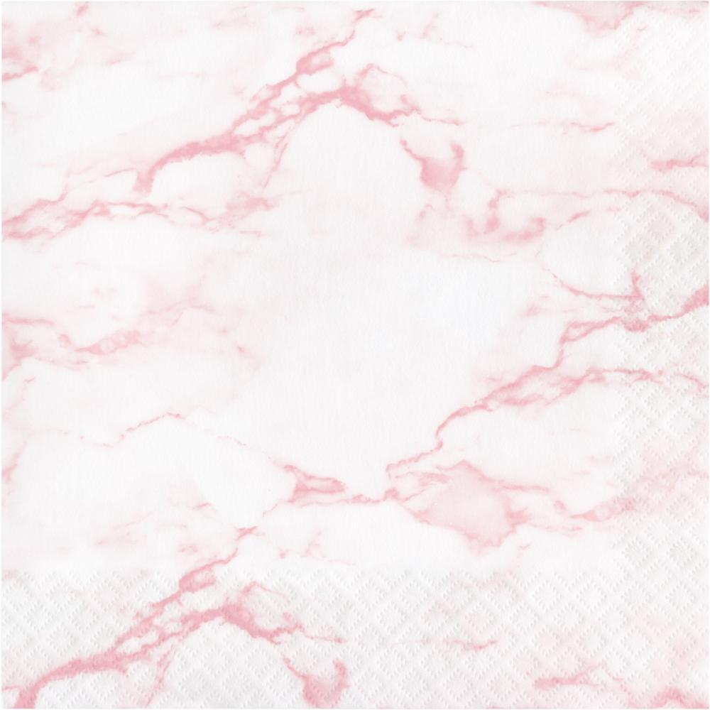 Pink Marble Luncheon Napkin (16/Pkg) by Creative Converting