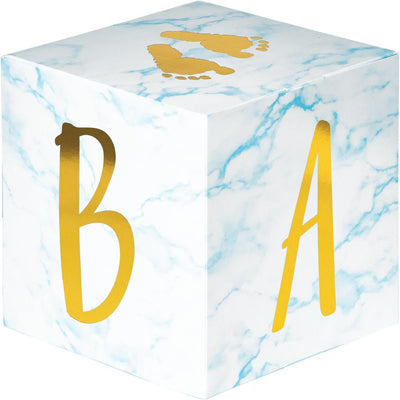 Blue Marble Centerpiece Baby Blocks, Foil (3/Pkg) by Creative Converting