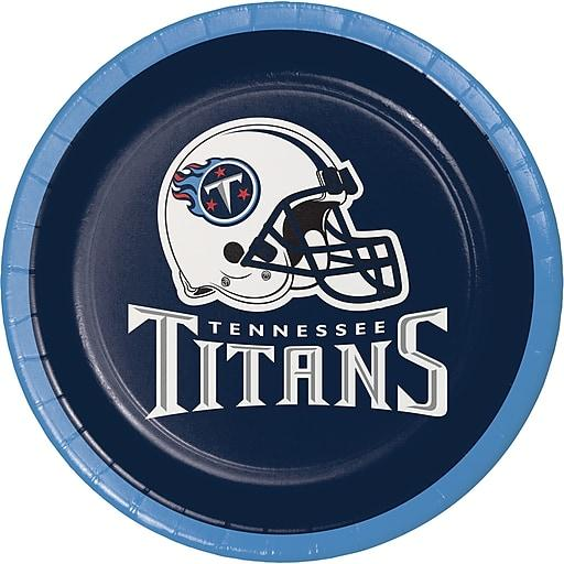 Tennessee Titans Dessert Plates, 8 ct by Creative Converting