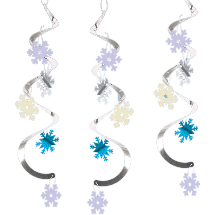 Snowflakes Dizzy Danglers, 5 ct by Creative Converting
