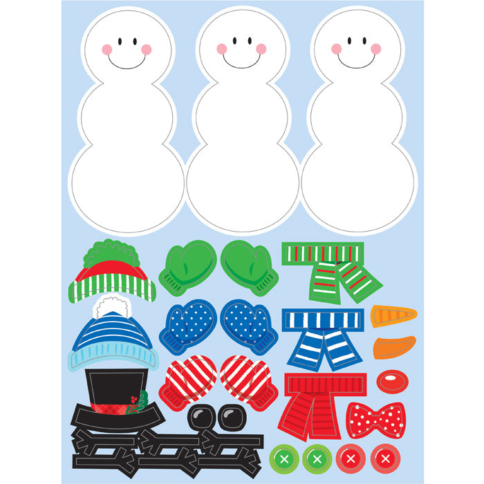 Build A Snowman Stickers, 4 ct by Creative Converting