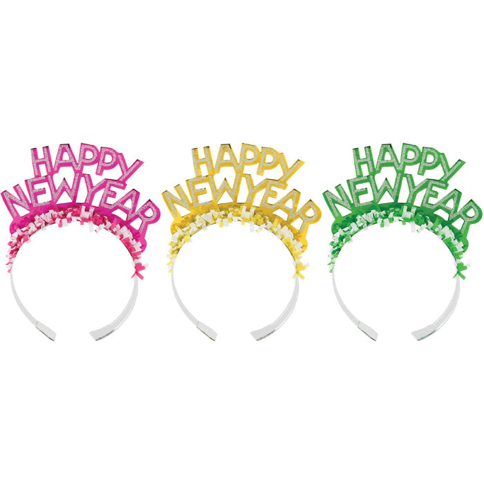 New Year'S Eve Foil Glitter Tiaras by Creative Converting
