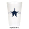 Dallas Cowboys Plastic Cup, 20Oz, 8 ct Party Decoration