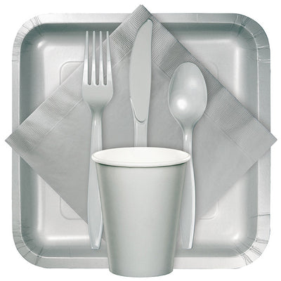 Shimmering Silver Plastic Forks, 50 ct Party Supplies