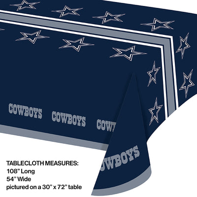 "Dallas Cowboys Plastic Tablecloth, 54"" X 108"" Party Decoration"