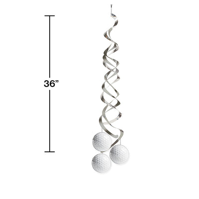 Golf Deluxe Danglers, 2 ct Party Decoration