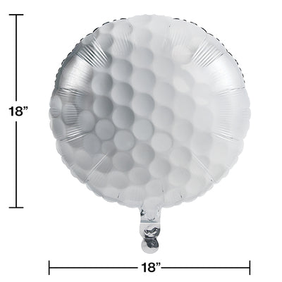 "Sports Fanatic Golf Metallic Balloon 18"" Party Decoration"