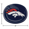 "Denver Broncos Oval Platter 10"" X 12"", 8 ct Party Decoration"