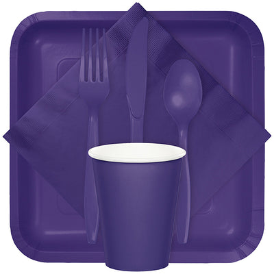 Purple Dinner Napkins 2Ply 1/8Fld, 100 ct Party Supplies