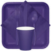 Purple Dinner Napkins 2Ply 1/8Fld, 50 ct Party Supplies