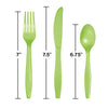 Fresh Lime Green Assorted Plastic Cutlery, 24 ct Party Decoration