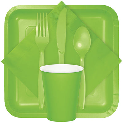 Fresh Lime Green Assorted Plastic Cutlery, 24 ct Party Supplies
