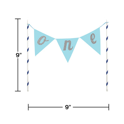 1st Birthday Boy Cake Banner Party Decoration