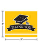 Graduation School Spirit Yellow Thank You Notes, 25 ct Party Decoration