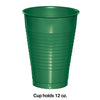 Emerald Green 12 Oz Plastic Cups, 20 ct Party Decoration