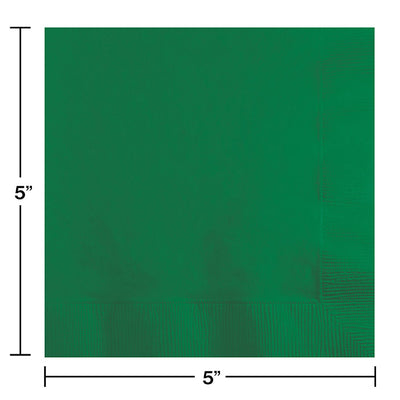 Emerald Green Beverage Napkin 2Ply, 50 ct Party Decoration