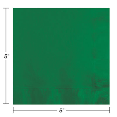 Emerald Green Beverage Napkin 2Ply, 200 ct Party Decoration