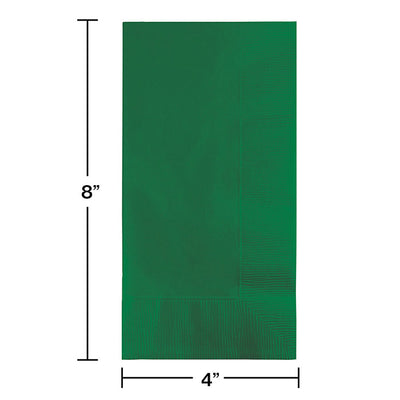 Emerald Green Dinner Napkins 2Ply 1/8Fld, 50 ct Party Decoration