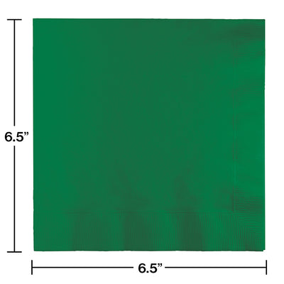 Emerald Green Luncheon Napkin 2Ply, 50 ct Party Decoration