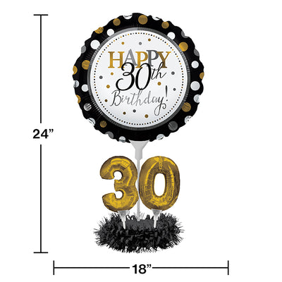 30th Birthday Balloon Centerpiece Kit Party Decoration