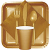 Glittering Gold Plastic Forks, 50 ct Party Supplies